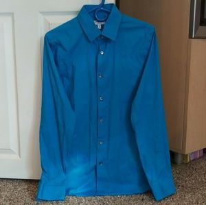 Blue Dress Shirt Size Medium, 15-15.5